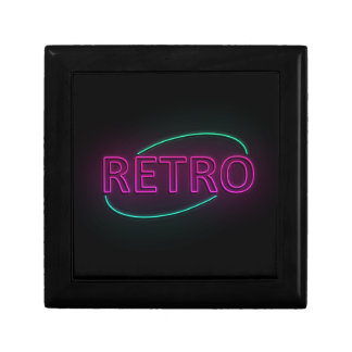Retro neon. gift box
