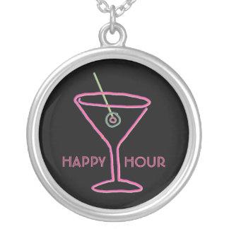 Retro Neon Martini Happy Hour Necklace