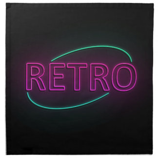 Retro neon. napkin