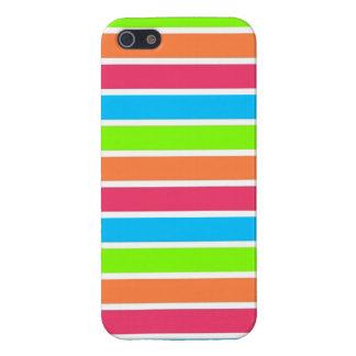 Retro Neon Rainbow Stripes; Striped Case For iPhone 5