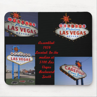 Retro Neon Series 1: Las Vegas Sign Mouse Pad