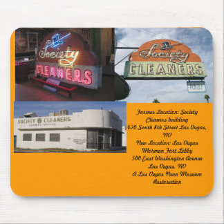 Retro Neon Series: #4 Society Cleaners Mouse Pad