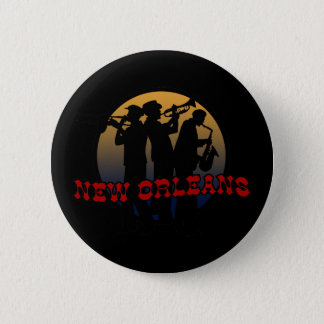 Retro New Orleans Jazz 6 Cm Round Badge