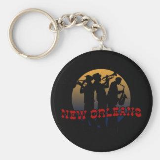 Retro New Orleans Jazz Key Ring