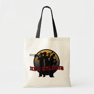 Retro New Orleans Jazz Tote Bag