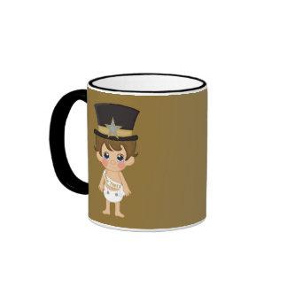 Retro New Years Baby New Year Coffee Mugs