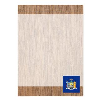 Retro New York Flag 13 Cm X 18 Cm Invitation Card