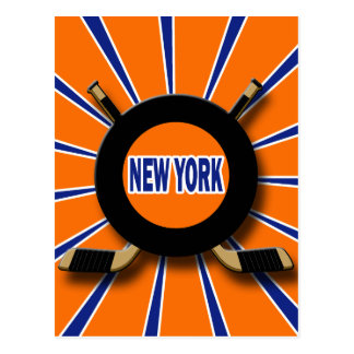 RETRO NEW YORK HOCKEY POSTCARD
