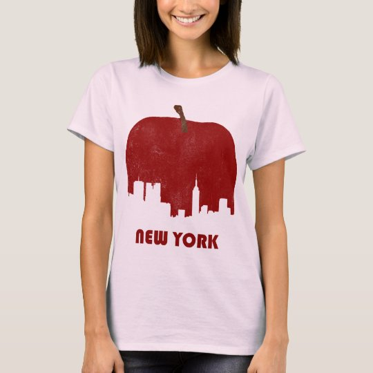 Retro New York Skyline-Women T-Shirt