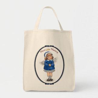 Retro Nice Nancy Grocery Tote Bag