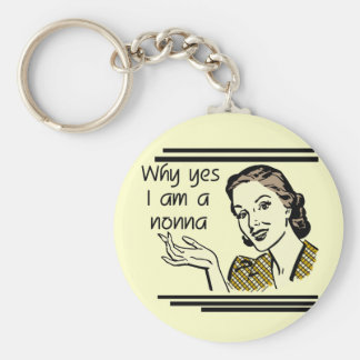 Retro Nonna Tshirts and Gifts Key Ring