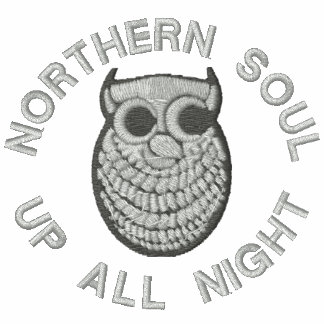 Retro Northern Soul Embroidered polo shirt