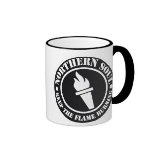Retro Northern Soul style design Ringer Mug