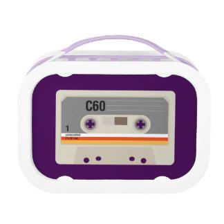 Retro nostalgic music lover cassette graphic lunch box