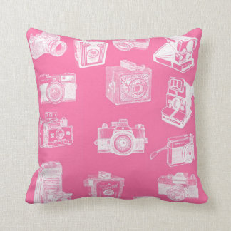 Retro Old doubles bed Throw Pillow