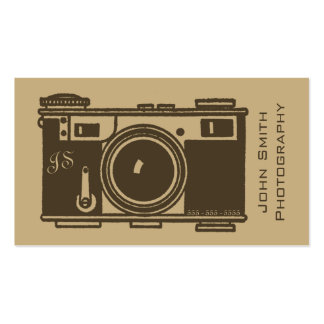 Retro Old Fashioned Brown Vintage Film Camera Pack Of Standard Business Cards