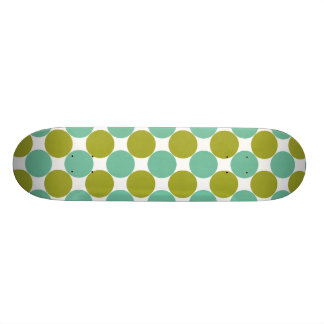 Retro Olive and Green Dots Skateboard Deck