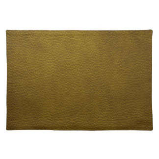 Retro Olive Green Grunge Leather Texture Placemat