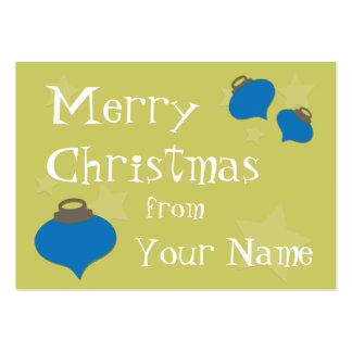 Retro Olive Ornament Christmas Pack Of Chubby Business Cards