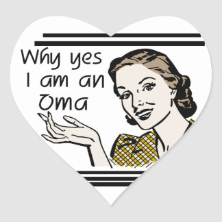 Retro Oma Tshirts and Gifts Heart Sticker