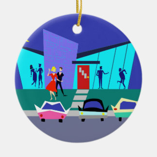 Retro Open House Party Christmas Ornament