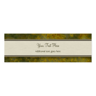 Retro Orange and Olive Jungle Floral with Monogram Pack Of Skinny Business Cards