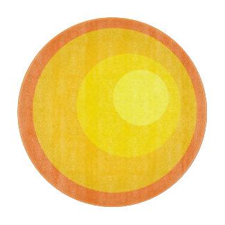 Retro Orange Circles Cutting Board