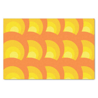 Retro Orange Circles Tissue Paper