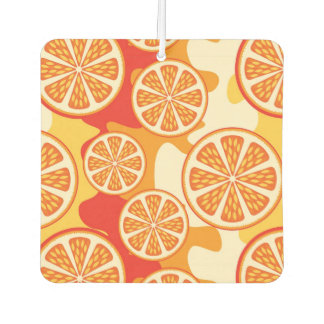 Retro Orange Citrus Pattern Car Air Freshener