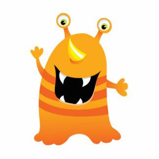 Retro Orange Cute Monster Photo Sculpture