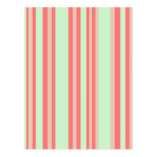 retro orange green stripes postcards