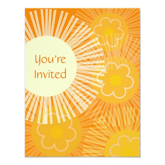 Retro Orange Invitation