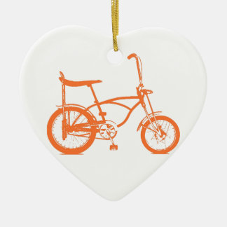 Retro Orange Krate Banana Seat Bike Christmas Ornament