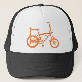 Retro Orange Krate Banana Seat Bike Trucker Hat