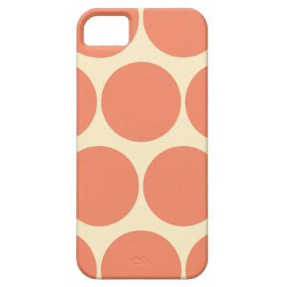 Retro Orange Large Polka Dot Iphone 5 Case