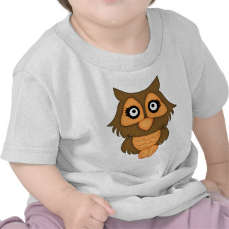 Retro Orange Owl Shirts