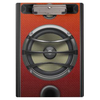 Retro Orange Speaker Look Clipboard
