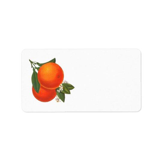 Retro Oranges Label