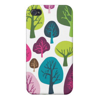 Retro organic tree plant pattern ipad case case for iPhone 4