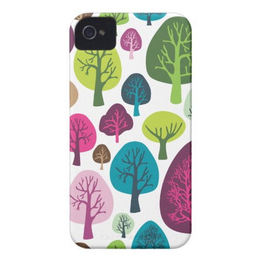 Retro organic tree plant pattern iphone case iPhone 4 Case-Mate case