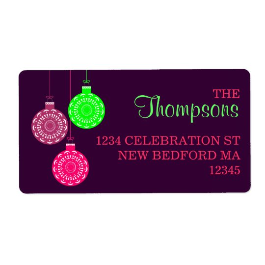 Retro Ornament Address Labels