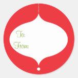 Retro Ornament Gift Stickers