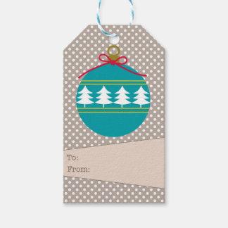 Retro Ornament Gift Tag