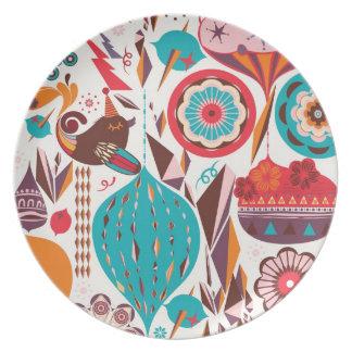 Retro Ornament Plate
