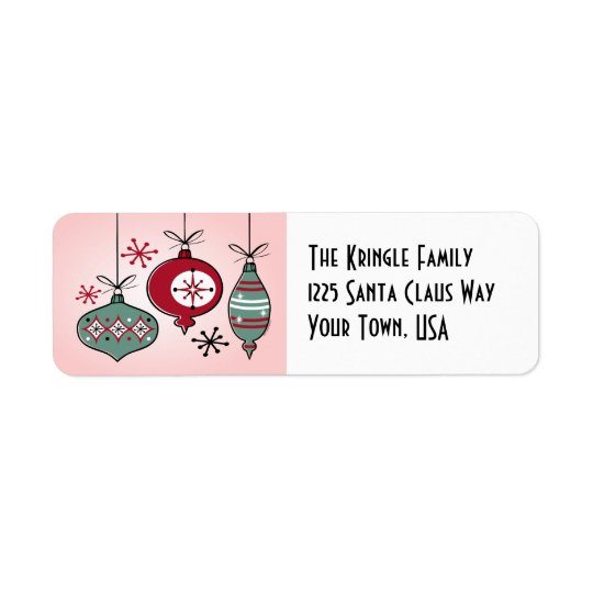 Retro Ornaments Address Label