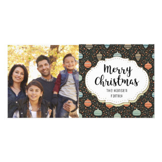 Retro Ornaments Decor Christmas Picture Photo Card