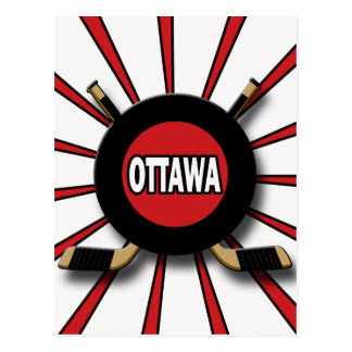 RETRO OTTAWA HOCKEY POSTCARD
