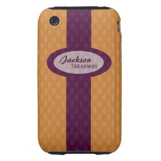 Retro Ovals iPhone 3 Case-Mate Tough - Tangerine Tough iPhone 3 Case