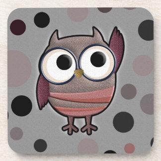 Retro Owl Beverage Coasters