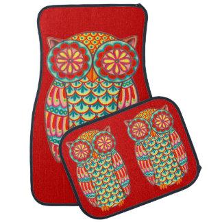 Retro Owl Car Mats - Full Set of 4 Mats